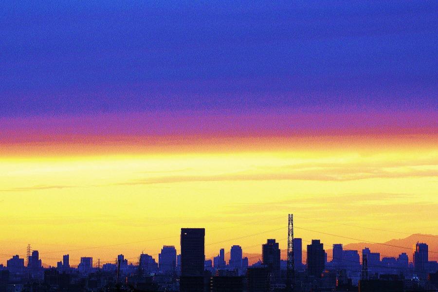 夕日が2色に分かれた.JPG